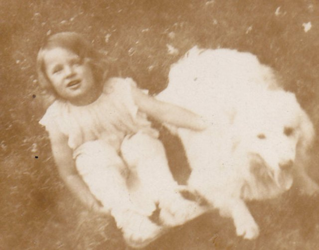 Lorraine Skibbe age 3 w dog